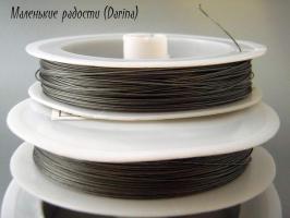 Тросик ювелирный, 0,35 мм, 1 м