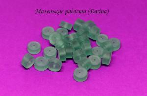 Флюорит, гладкий матовый рондель, 12х7+- мм