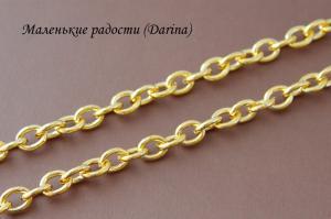 Цепочка, золотистый, 10х8 мм, 50 см