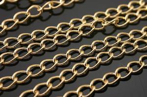 Цепочка, латунь, Gold Plated, 3х4,5х0,5 мм, 10 см 1