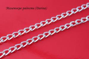 Цепочка, серебристый, 12х8 мм 1, 50 см