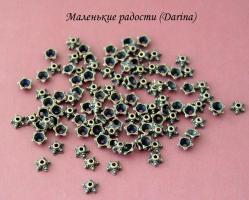 Шапочка Звездчатая бронзовый 7х3 мм