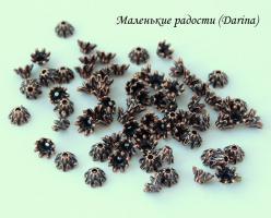 Шапочка Звездчатая медный 7х4 мм