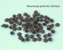 Шапочка Звездчатая медный 9х3 мм