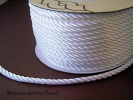 Шнур, белый, 5 мм, за 1 м