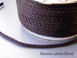 Шнур, коричневый, 5 мм, за 1 м