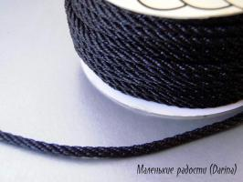 Шнур, черный, 5 мм, за 1 м