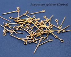 Штифты с петлей, золотистый, 24х0,7 мм, 10 шт
