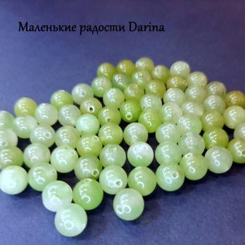 Бусина Авантюрин натуральный зеленый гладкий шар 8,3+- мм