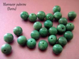Бусина Амазонит гладкий шар 6 мм