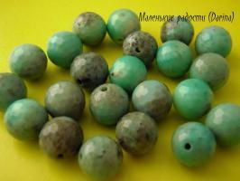 Бусина Амазонит граненый шар 10 мм