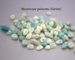 Бусина Амазонит крошка 10-3+- мм