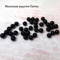 Бусина Гагат гладкий шар 6,5 мм