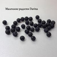 Бусина Лава черный шар 8 мм