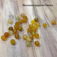 Бусина Халцедон желтый граненый шар 6+- мм