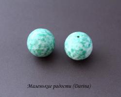 Бусина Амазонит граненый шар 25 мм