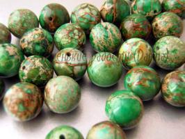 Бусина Варисцит зеленый пигментный гладкий шар 12 мм