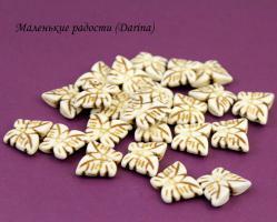 Бусина Говлит белый бабочка 17х13х4 мм