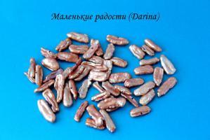 Бусина Жемчуг бива коричневый 18-3+- мм