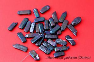 Бусина Жемчуг бива прямоугольник черный 22-3+- мм