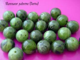 Бусина Нефрит гладкий шар 12+- мм