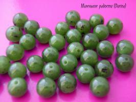 Бусина Нефрит гладкий шар 6,5 мм