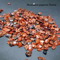 Бусина Обсидиан коричневый крошка 13-3+- мм