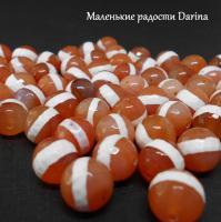 Бусина Сердолик дзи Медицины граненый шар 10 мм