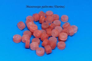 Бусина Халцедон (кварц черри) гладкий матовый рондель 12х7+- мм