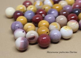 Бусина Яшма австралийская (мукаит) гладкий шар 14,5+- мм