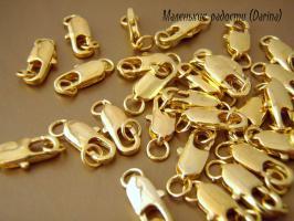 Замочек, золотистый, 12 мм