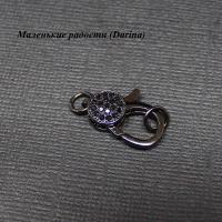 Замочек, черный никель, Милано, 25х10 мм