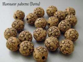 Каучук, ромашки, шар, 11 мм