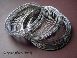 Мемори проволока для браслетов, серебристый, 5,5 мм, 0,6 мм, 1 виток