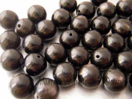 Обсидиан, гладкий шар, 10 мм 1