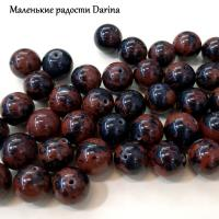 Бусина Обсидиан коричневый гладкий шар 10 мм