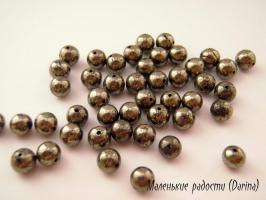 Бусина Пирит гладкий шар 4,4 мм