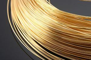 Проволока, медь, золотистый, 0,3 мм, 1 м