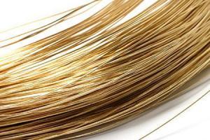 Проволока, медь, золотистый, 0,6 мм, 1 м